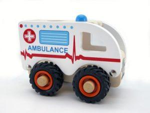 wooden ambulance