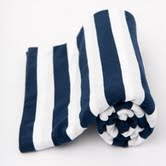 Lil Fraser Collection | Baby Wraps | Cooper | Navy and White Stripes