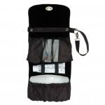 Black nappy bag open