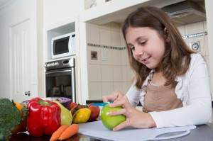 KiddiKutter cuts all fruit and vegetables