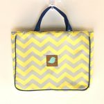 Jaq Jaq Bird School/ Library Bag | Yellow Chevron