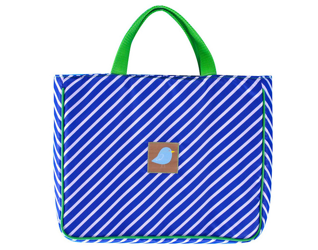 Jaq Jaq Bird Activity Bag | Navy Stripe