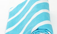 Lil Fraser Collection Wraps | Billie | Aqua and White Stripes