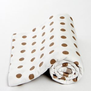 Lil Fraser Wrap | Jamie | White with Brown Spots