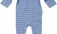 Purebaby | V-neck stripe jumpsuit
