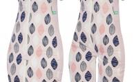 Pink Leaf sleeping bag/ sleep suit |ErgoPouch | 1.0 tog