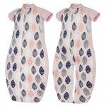 Pink Leaf sleeping bag/ sleep suit |ErgoPouch | 1.0 tog