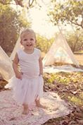 Little Tutus | White with ribbon | Size 1-2 years