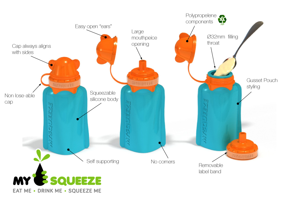 My Squeeze Reusable Food Pouches Frombabytokids Com Au