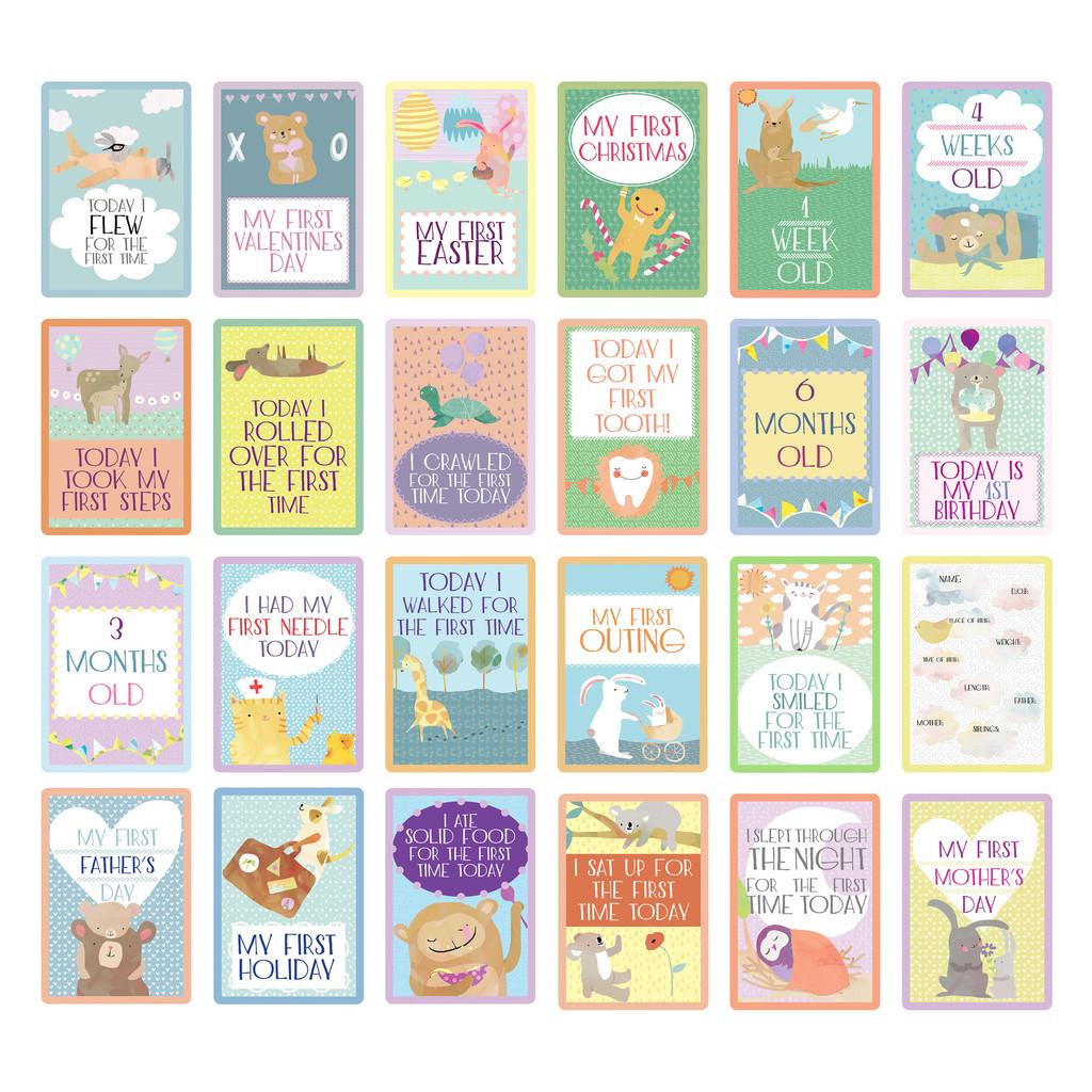 Baby Milestone Cards Photo Cards Frombabytokids Com Au