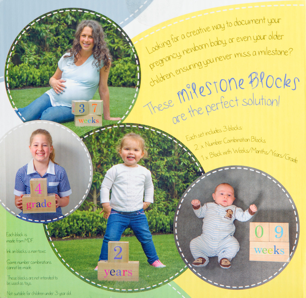 Milestone Blocks | Neutral | Baby shower gift
