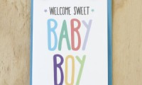 New Baby Card | Boy | Sprout and Sparrow