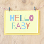 Hello New Baby Card | Sprout and Sparrow