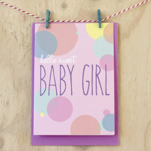 New Baby Card | Girl | Sprout and Sparrow