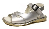 Skeanie | Cross Over Leather Sandals | Silver