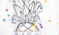 Pineapple Softie Colour Me In | Dear Diary Design