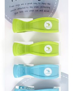 Pram Pegs | 4 pack | Green and Blue