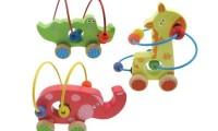 Wooden Beads with Wheels | Crocodile | Elephant | Giraffe