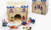 Wooden Knight Castle Set