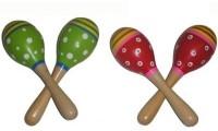 Maracas | Small wooden maracas | Green or Red