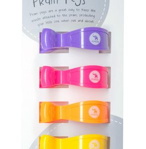 Pram Pegs | Multi Coloured | Pack of 4