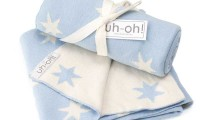 Baby Blanket | Blue and White Stars | Cotton