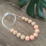 Beige and apricot necklace