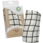 All 4 Ella bamboo wrap black and white lines