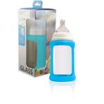 New- Glass bottle- Cherub Baby- Blue