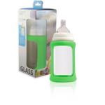 New- Glass bottle- Cherub Baby- Green