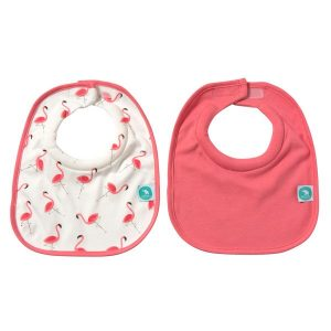 Roll neck bibs- flamingo and pink one