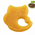 Haakaa natural rubber teether- sleeping owl